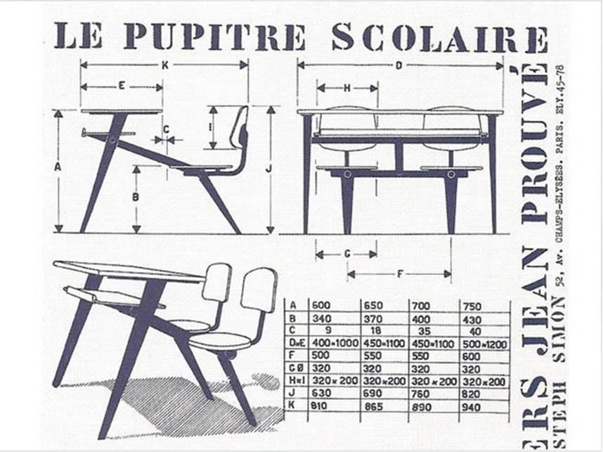 School desk Jean Prouve 3
